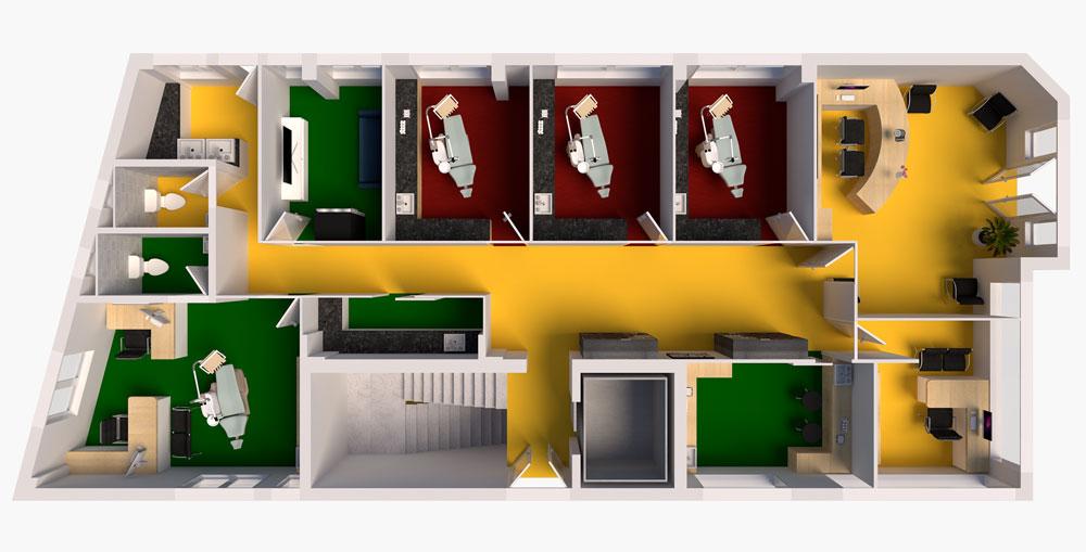 3D Floorplan of Dental Lavelle
